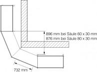 Außenecke 45° (AE45)