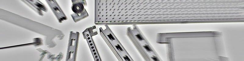 Komponenten und Bauteile Tegometall Regalsystem