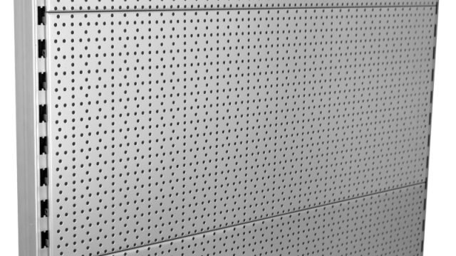 Tegometall Rückwände mit Rundlochung RL zur Aufhängung von Lochplattenhaken