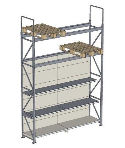 Tegometall Lagertechnik Regal mit Integration