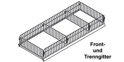 Frontgitter und Trenngitter Tegometall Fachböden